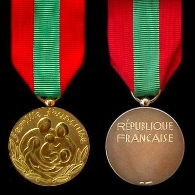 Médaille de Bronze de la Famille Française