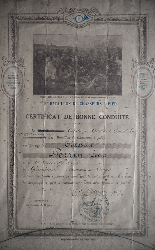 Certificat de Bonne Conduite de Henri Louis PERRIN