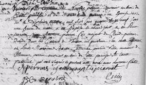 Baptême Nicolas PERRIN 1789