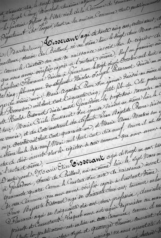 Annexe du Mariage entre Hilaire Julien DRAPPIER et Anne MATHIEU