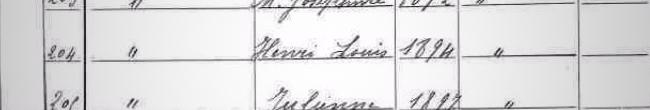 Extrait recensement 1911